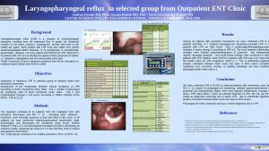 laryngopharyngeal reflux in selected group from outpatient ENT clinic